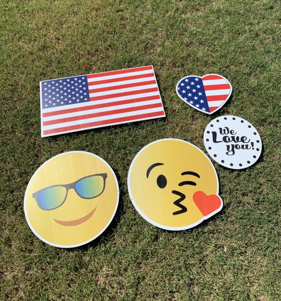 American Flags, Emojis, We Love You