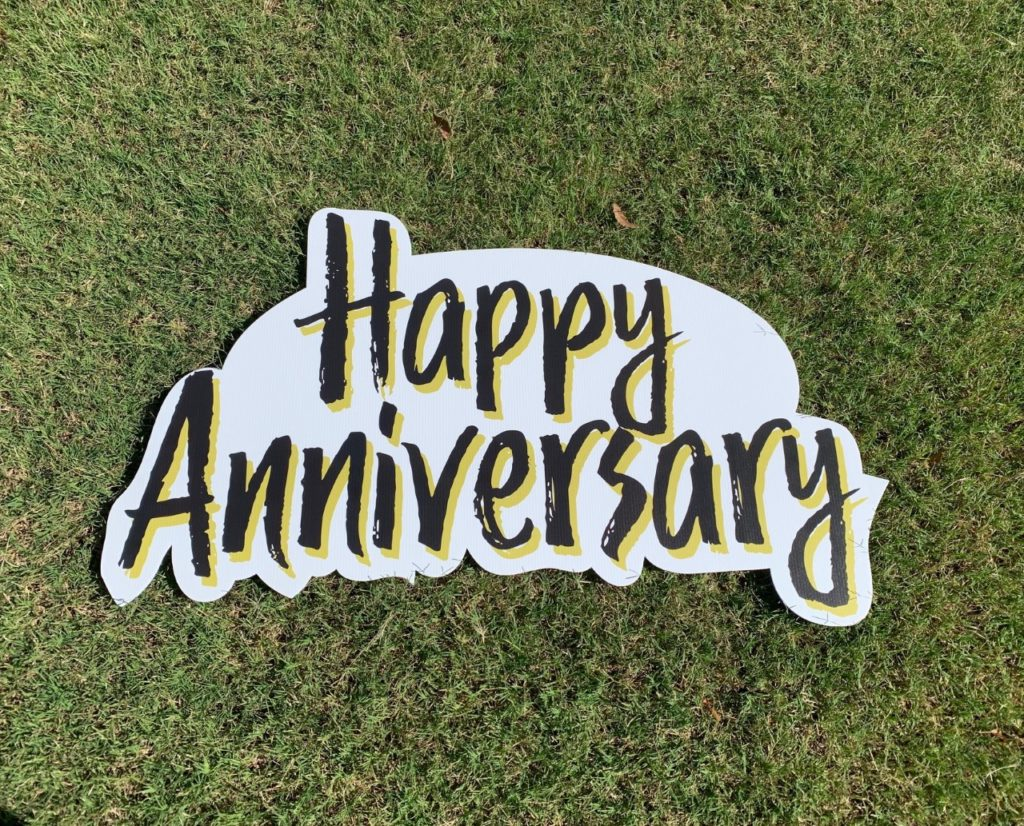Happy Anniversary Sign