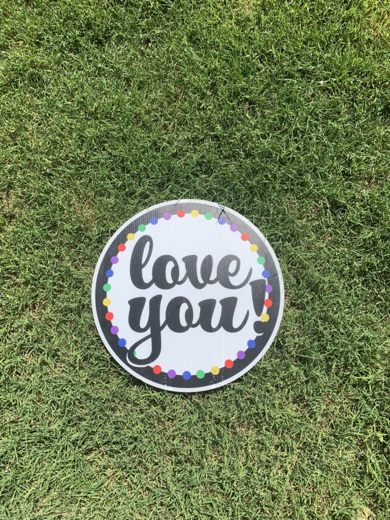 Love You with colorful dots